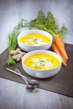 Velouté de carottes au gingembre - avec un soup maker - et tartare de noix de saint-jacques