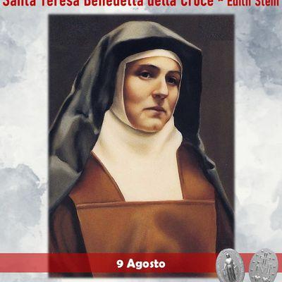 9 Agosto : Santa Teresa Benedetta della Croce - Preghiere e vita della santa nata ebrea e divenuta cristiana