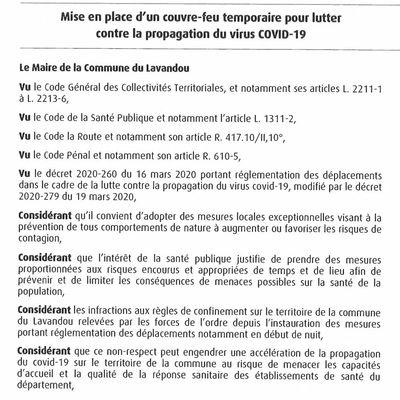 """Le """"couvre-feu"""" du Lavandou est illégal"""