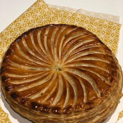 Galette frangipane, pommes et vanille  (et conseils CAP Pâtisserie sur la pâte feuilletée à 6 tours)