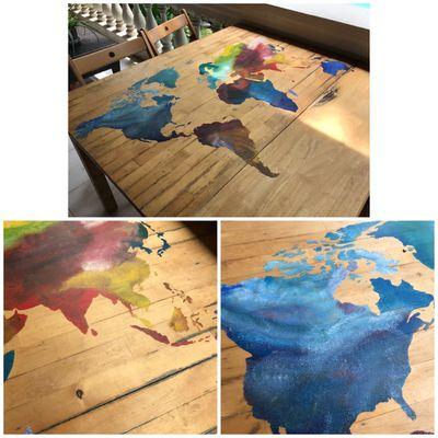 Déco Table en bois