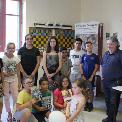 Une réception à l'Échiquier Orangeois en l'honneur des jeunes