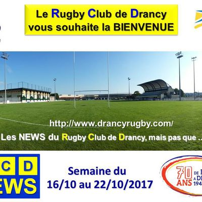 RC Drancy  News du 16 au 22/10/2017