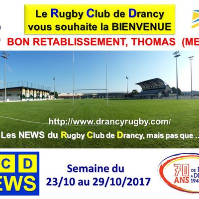 RC Drancy News du 23 au 29/10/2017
