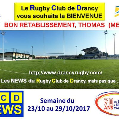 RC Drancy News du 30/102017 au 05/11/2017