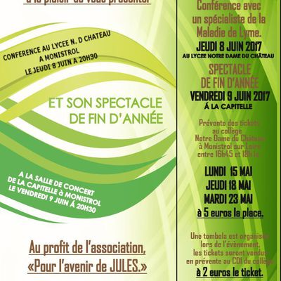 "CONFERENCE ET SPECTACLE AU PROFIT DE L'ASSOCIATION ""POUR L'AVENIR DE JULES"""