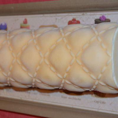 Ma bûche glacée vanille-framboise