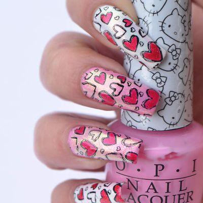 Nail Art St Valentin 💖