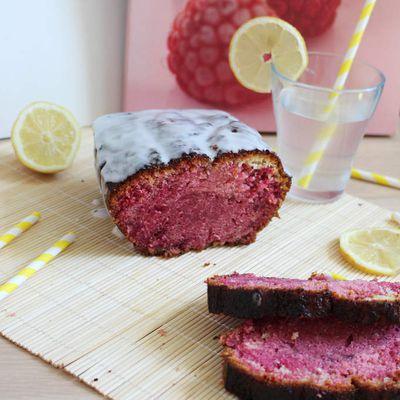 Cake (pas si) marbré framboises/citron, Christophe Adam.