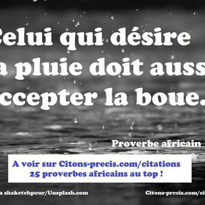 25 proverbes africains au top !