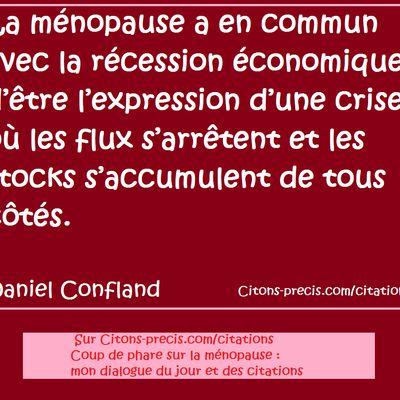 Coup de phare sur la ménopause : mon dialogue du jour et des citations