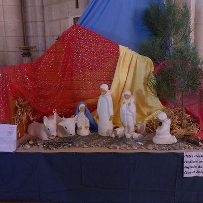 La crèche de l'église Saint-Vincent-de-Paul à Arès...