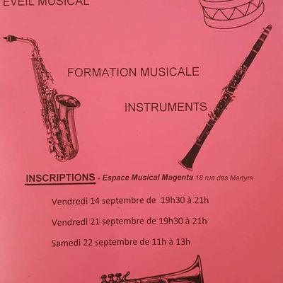 Dernière semaine pour les inscriptions dans notre école de Musique!
