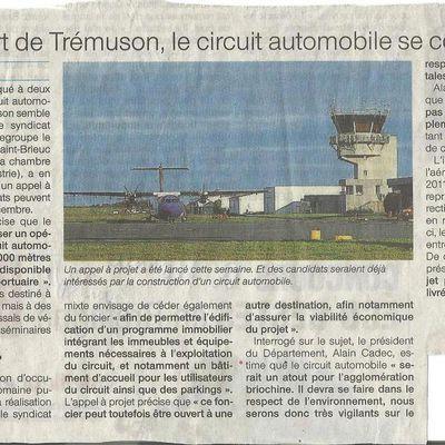 Un circuit automobile à Trémuson? Pourquoi?