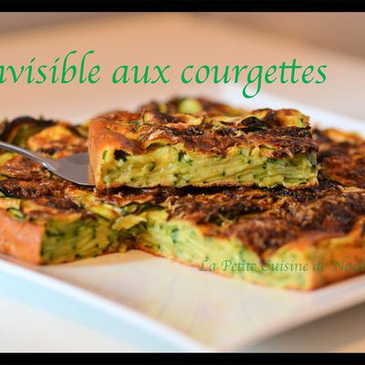 Invisible aux courgettes parmesan, curry