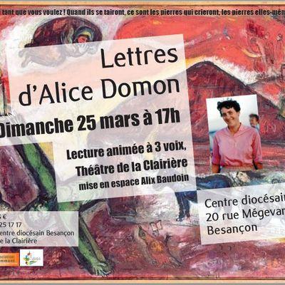 Lettres d'Alice Domon
