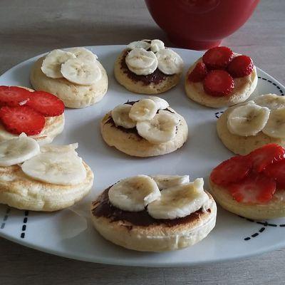 Pancakes fluffy à la fleur d'oranger - 1sp les 9
