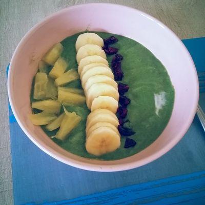 Smoothie banane - alpro coco et poudre detomix