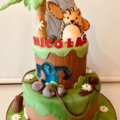 Gâteau les As de la Jungle - Jungle bunch cake
