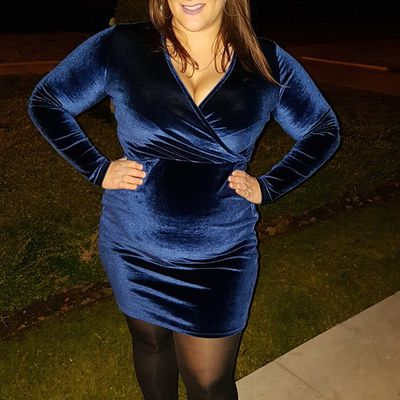 Blue Velvet Dress - French Curves Challenge