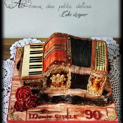 Gâteau sculpté Accordéon