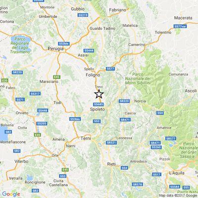 Terremoto a Campello sul Clitunno e Spoleto di magnitudo 4,1