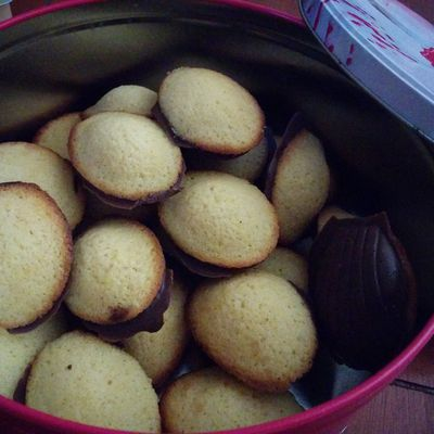 Madeleines coques chocolat