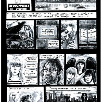 Hommage à SERGE GAINSBOURG (2 avril 1928 - 2 mars 1991) - BD CYNTHIA ROCK (N°8... Série) dans JUKEBOX MAGAZINE N°103 (avril 1996)
