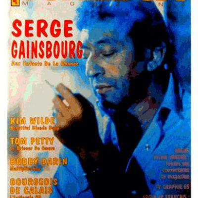 JUKEBOX MAGAZINE N°103 (avril 1996) rend hommage à GAINSBOURG.