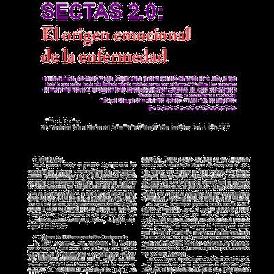 SECTAS 2.0 -EL ORIGEN EMOCIONAL DE LA ENFERMEDAD