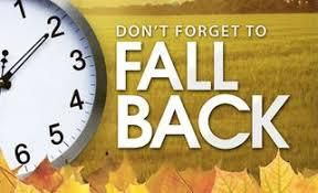 Fall Back Sunday 29th October