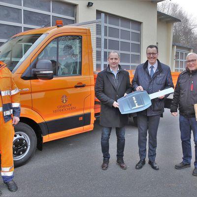 Bauhof der Gemeinde Veitshöchheim erweitert Fuhrpark um einen 45.000 Euro teuren MAN-Transporter