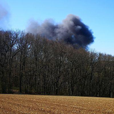 Wohnmobilbrand im Veitshöchheimer Sendelbachtal