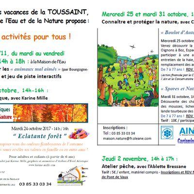 Pendant les vacances de la Toussaint la MEN propose des activités ouvertes à tous.