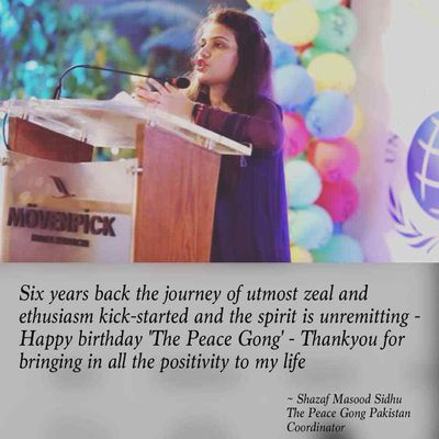 """Six incredible years with peace gong - Happy birthday """"The Peace Gong"""""""