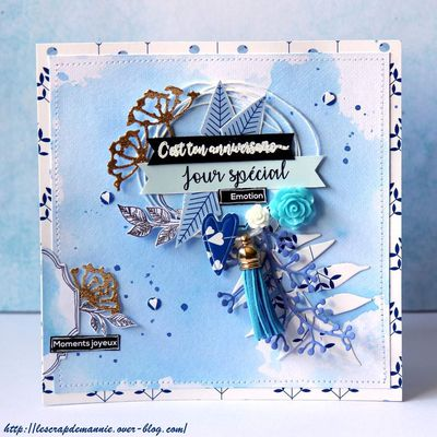 Défi  lift de carte avril 2019 / invitée créative Scrap&co