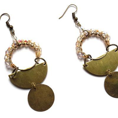 Boucles d'oreilles bohèmes, ethniques, hippie chic, folk, gipsy, gitane, festival, coachella, aztèque, inca, tribal, africain, géométriques, perles, art déco, uniques, fait main, etsy