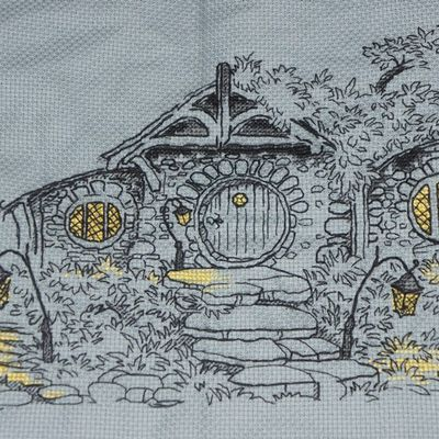 "Blackwork ""Trou de Hobbit"""