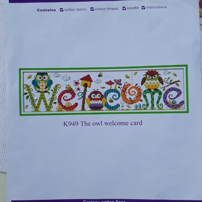 The owl welcome card 1