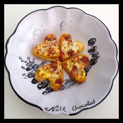 Croque-quiches chorizo/poivrons