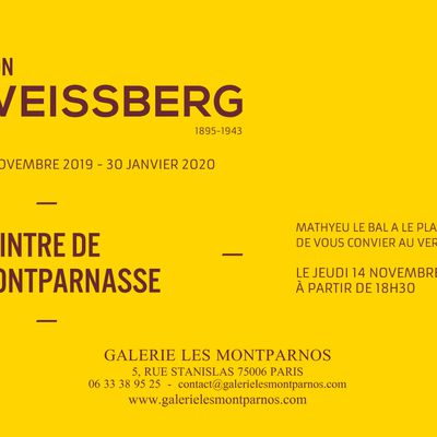 Léon Weissberg (1895-1943), invitation pour le vernissage