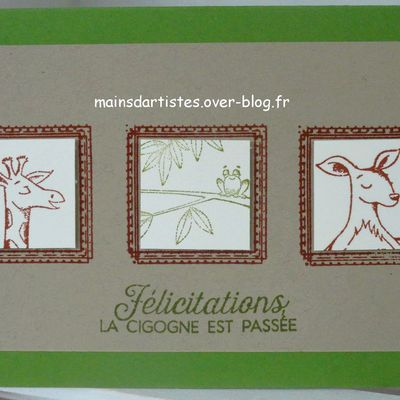 DUOS D'ANIMAUX,STAMPIN'UP