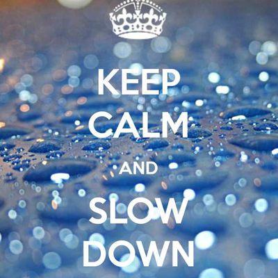 Il est urgent de ralentir!