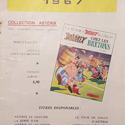 Catalogue Dargaud, Astérix 1967