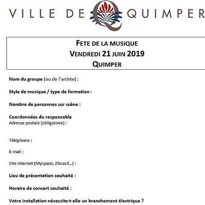 Inscriptions avant le 16 mars pour une scène à la fête de la musique à Quimper