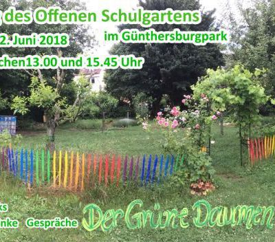 save the date! TAG DES OFFENEN SCHULGARTENS