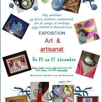 Exposition Art et Artisanat à Crémieu du 13 au 17 décembre