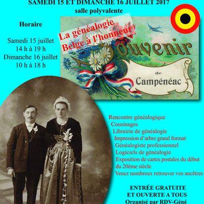 13e Rendez-vous de la généalogie à Campénéac (56)