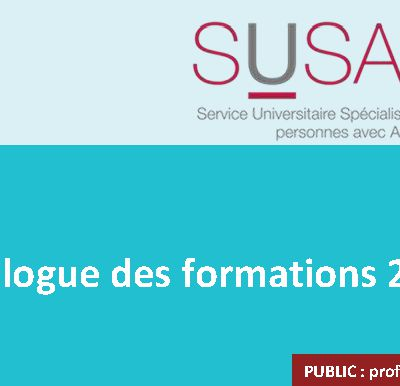 Autisme - Catalogue 2018 des formations SUSA