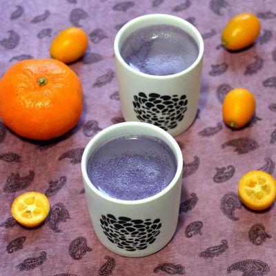 Flans amande-violette avec 3 ingrédients (recette végétalienne)